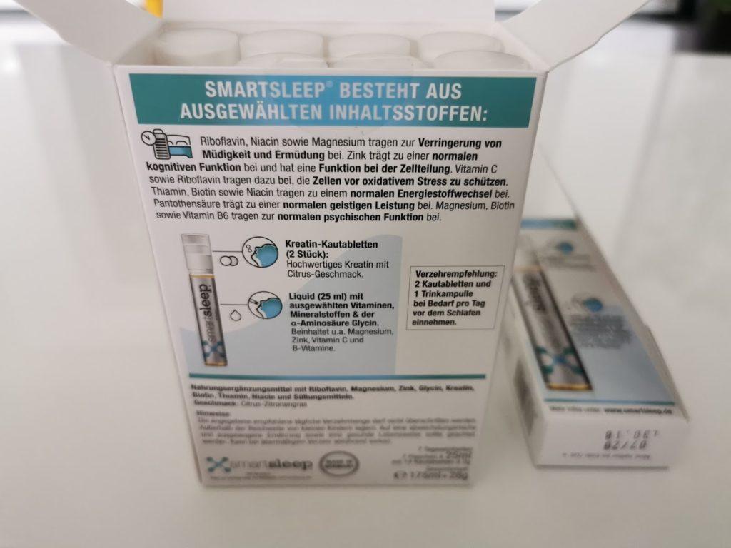 smartsleep Produkttest - Rückseite