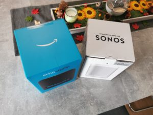 Echo Studio Sonos One Verpackung 2