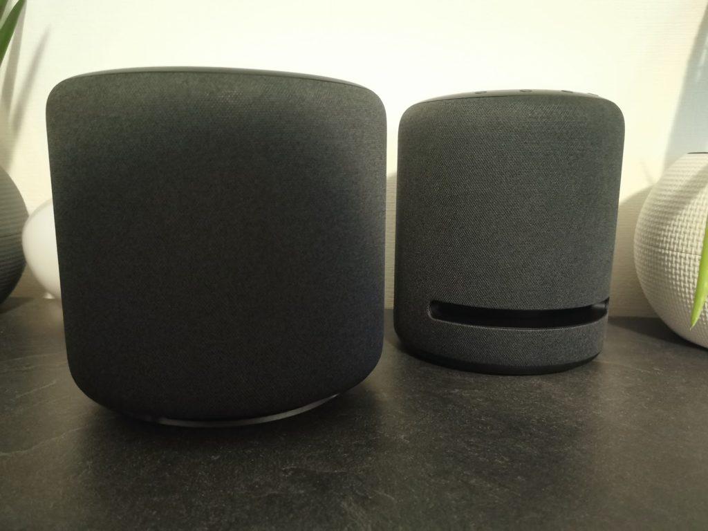 Größenvergleich Echo Sub und Echo Studio