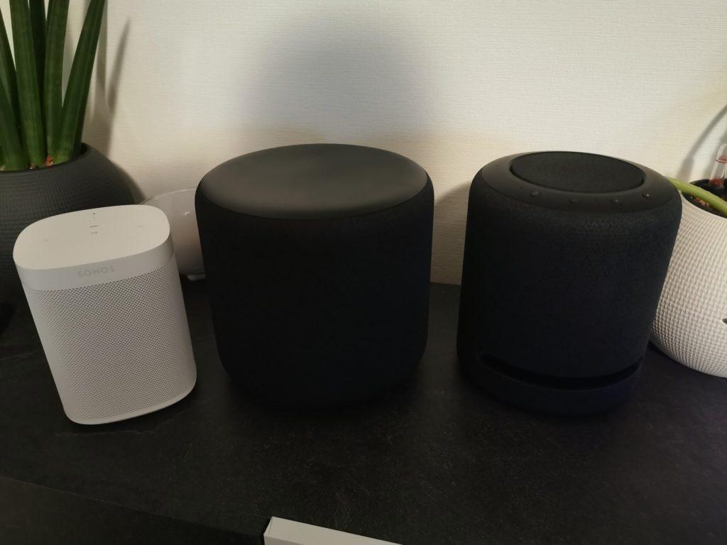 Größenvergleich Sonos One Echo Sub Echo Studio