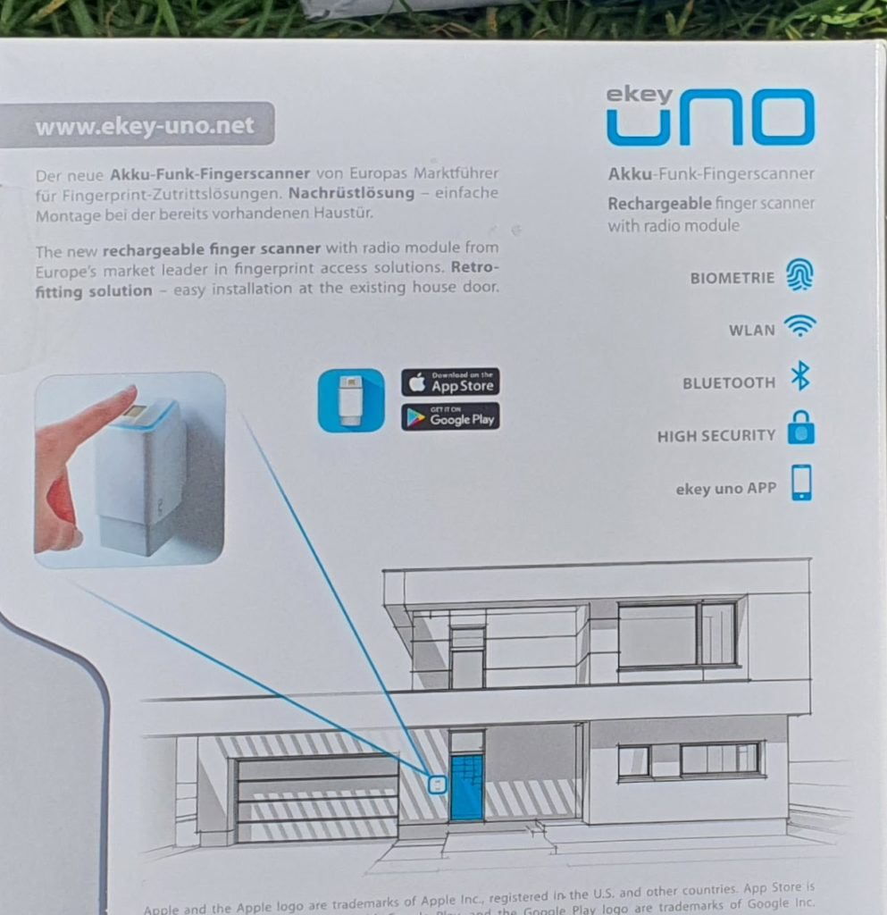 Ekey Uno smartes Türschloss mit Fingerabdruck im Test Rückseite