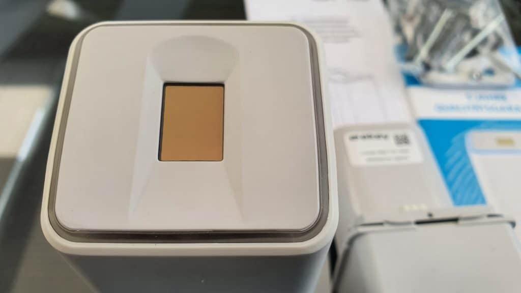 Ekey Uno smartes Türschloss mit Fingerabdruck im Test Scanner im Detail