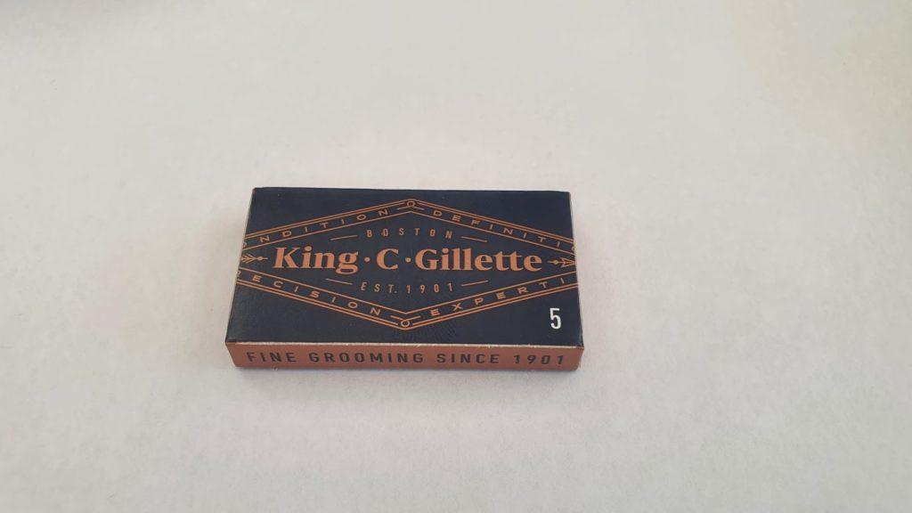 Gillette King C. Rasierhobel Testbericht - Klingen Verpackung einzeln