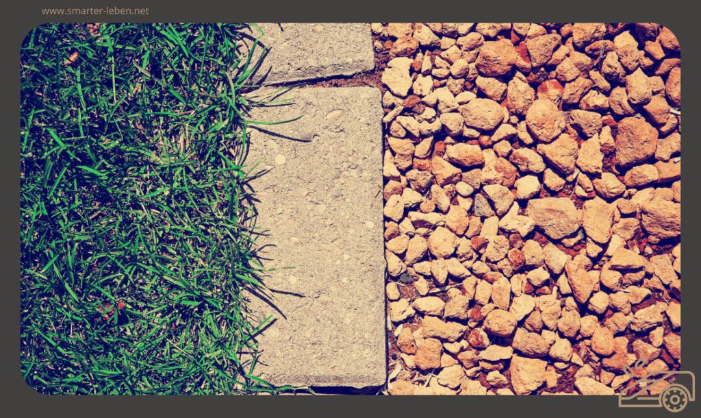 Der perfekte Rahmen für deinen Rasen - Mähsteine verwenden