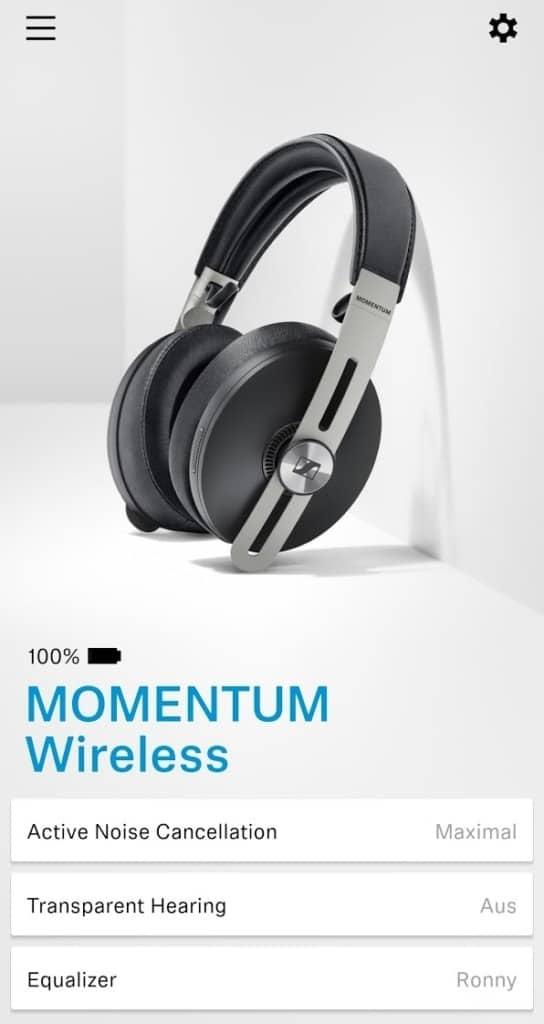 Sennheiser Momentum Wireless im Test - Smart Control App